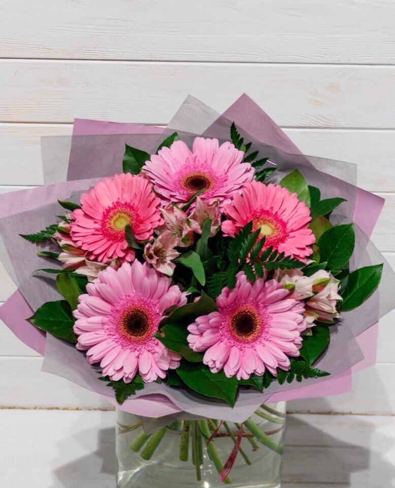 Букеты из 4 герберов фото, цветы оптом рязань